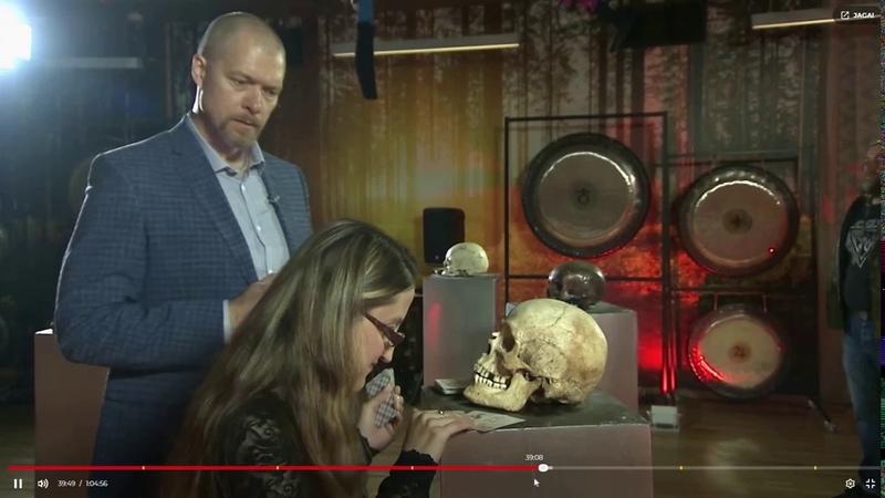 Битва Экстрасенсов Эстонии - Dalia Olga selgletnägijate tuleproov katse 4