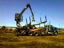 L L Inc. Self Loading Mule Train: Loading the Trailer