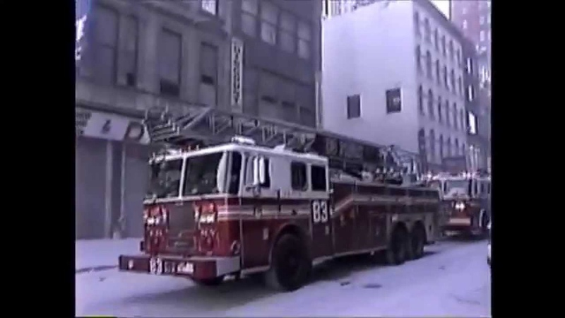 MY ORIGINAL 911 FOOTAGE - SCORES OF FDNY UNITS RESPONDING ON CHAMBERS ST. ON SEPTEMBER 11, 2001.