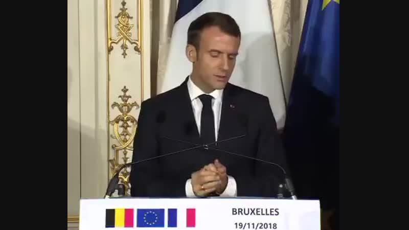 Macron Nous croyons en une Europe plus unie, plus solidaire, plus forte, face aux grandes transformations du monde.