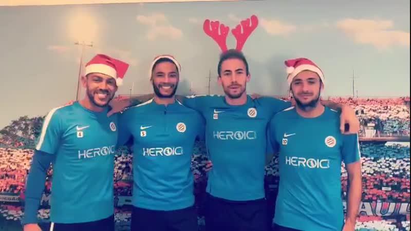 Поздравление игроков Монпелье с наступающим католическим Рождеством!