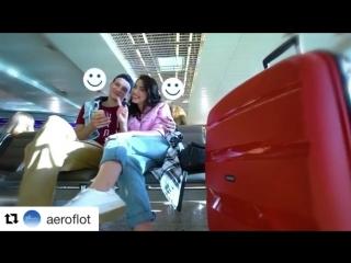 Видеоролик Аэрофлота)) 🌺😊🐶