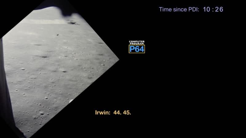 Apollo 15 landing from PDI to Touchdown