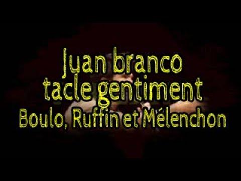 Juan Branco tacle gentillement Boulo, Ruffin et Mélenchon