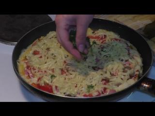 ПИЦЦА на сковороде за 5 минут _ Быстрый рецепт пиццы