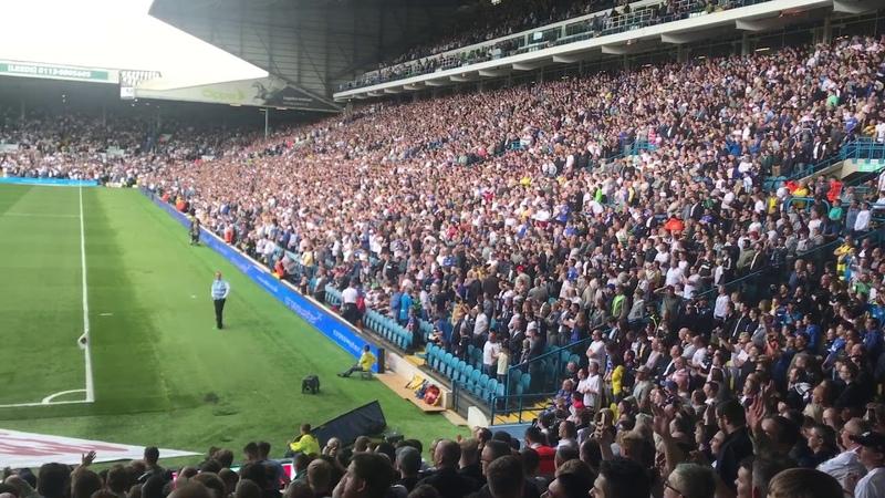 Leeds united fans singing marching on together at elland road lufc v pnefc 12/08/17