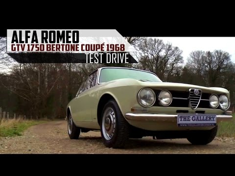 ALFA ROMEO GTV 1750 Bertone Coupé 1968 - Full test drive in top gear - Engine sound | SCC TV