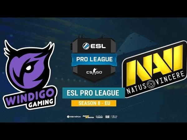 Windigo vs Na`Vi - ESL Pro League S8 EU - bo1 - de_mirage [Mintgod, Smile]