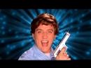 Hot Brunette gets wild with Kitchen Gun