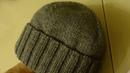 Шапка спицами. Мужская шапка спицами описание