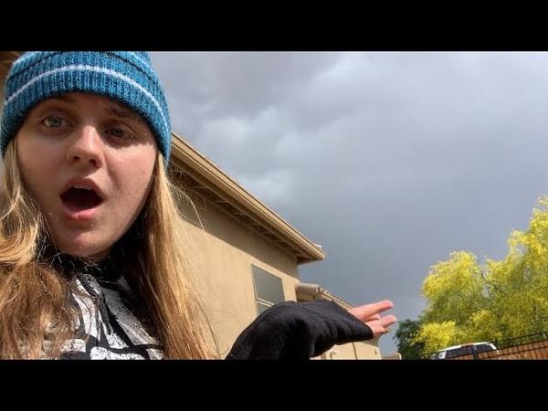 IT FLOODED IN MY BACKYARD! (Rainy day vlog)