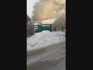 Пожар на ул. 5-я Северная (16.01.2019)