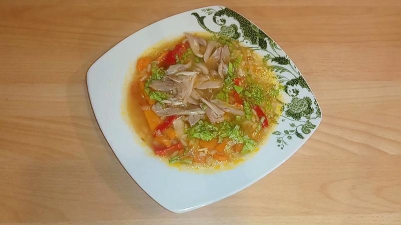 Томатный суп с рисом Яркий и вкусный