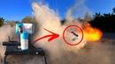 ЭкспериментПушкамукамощная петардаВзорвал муку Gun flour firecrackerТест петард