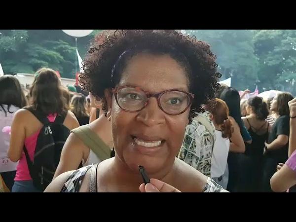 A advogada Neusely Fernandes critica reforma da previdência de Bolsonaro