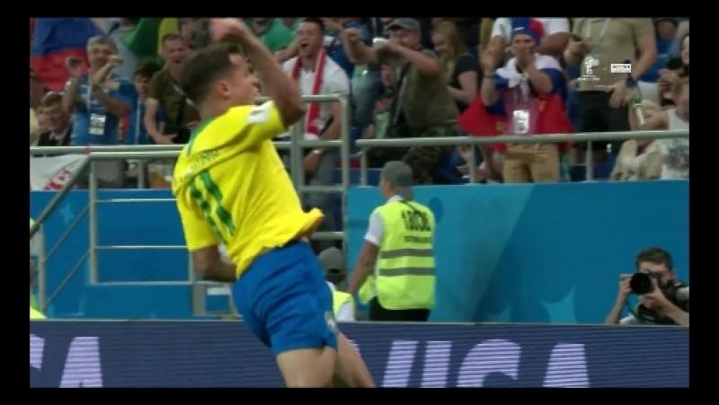 Бразилия – Швейцария 1:0. Первый гол Коутиньо!