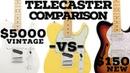 (2016) $5000 VS $150 Guitar Comparison | 61 Fender Telecaster VS Peavey Reactor VS Thinline