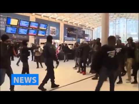 African Migrants Rampage Police in Paris France