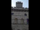 Тоскана. монтельпучиано башня с монтельпучиано башня с часами
