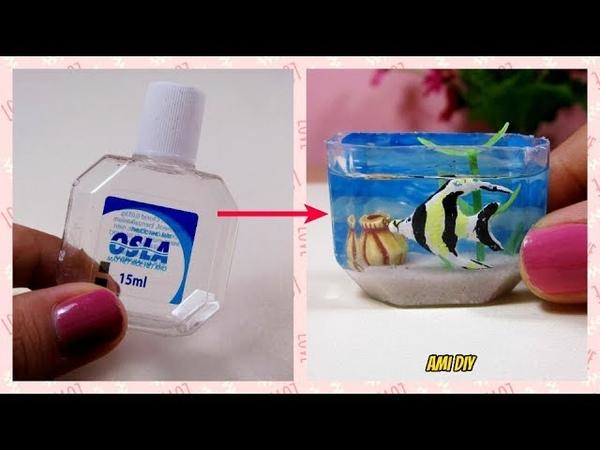 DIY Miniature Aquarium Cách làm bể cá cho búp bê Ami DIY