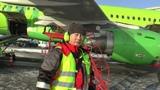 Наземное обслуживание (Ground Handling) ВС А-319 авиакомпании S7 Airlines в аэропорту Домодедово ч.2