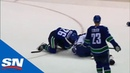 Antoine Roussel And Yanni Gourde Fight After Big Turnbuckle Hit