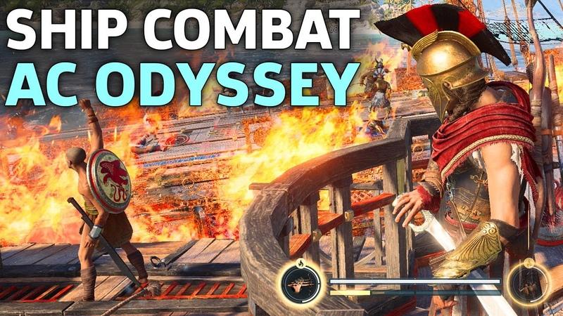 Assassins Creed Odyssey Ship Combat Gameplay | E3 2018