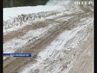 Дорога Ворохта - Верховина на Прикарпатті 2019-01-24