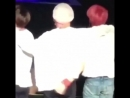 Jungkooks hand on taehyungs waist i may or may not have shed a tear - -