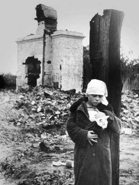 «Блокадный Ленинград. Кот Васька. Чтoбы помнили.»