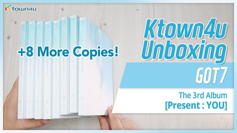 [Ktown4u Unboxing] GOT7 - Present YOU - Unboxing 8 more copies!!