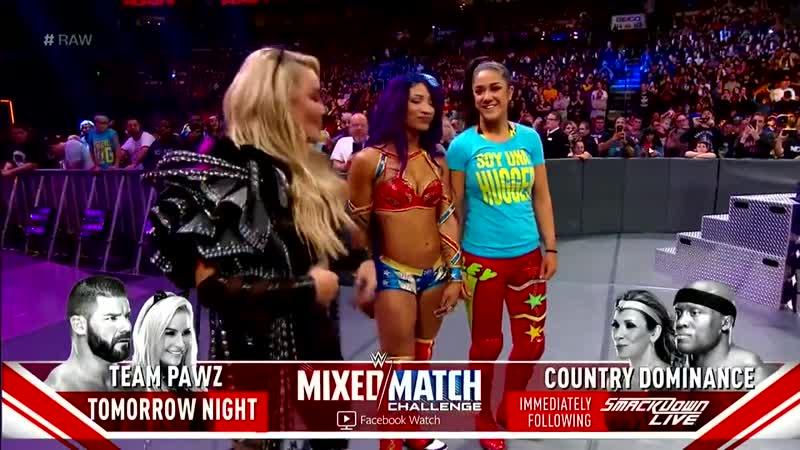 SB_Group| Sasha Banks return entrance (w/ Bayley Natalya) | RAW: October 16, 2018