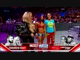 SB_Group Sasha Banks return entrance (w Bayley &amp Natalya) RAW October 16, 2018