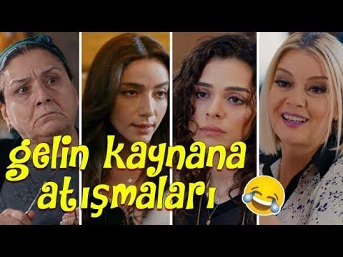 DİZİLERDE GELİN KAYNANA ATIŞMALARI ( komik sahneler )