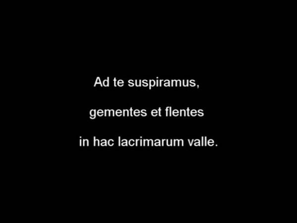 SALVE REGINA ( recited in latin/ english french sbt. )