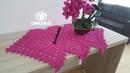 Caminho/centro de mesa em crochê rosa - Parte 2