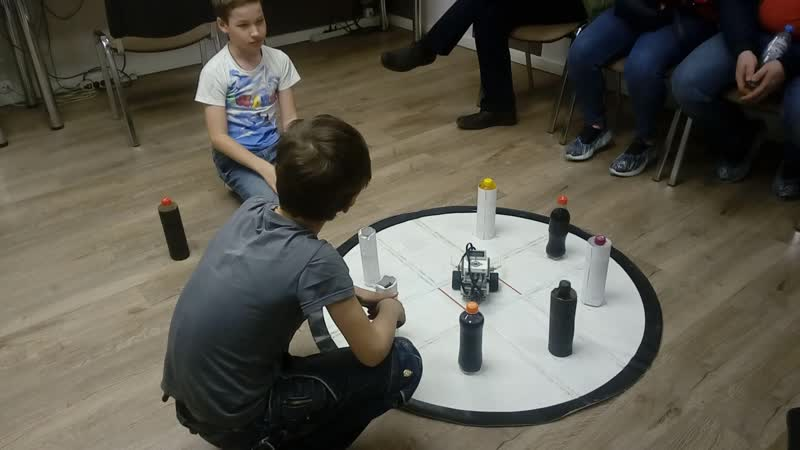 3 модуль робототехники Lego Mindstorms 2 попытка Чибурова Даниила и Швецова Виктора