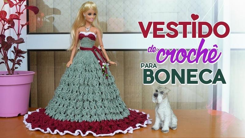Vestido de crochê para bonecas (fácil) | Raquel Gaúcha