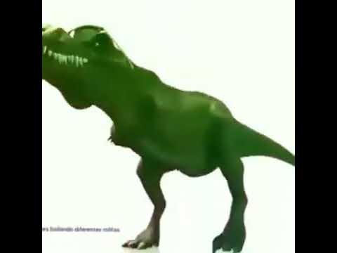 Dinossauro dançando ao som de cachorro meme