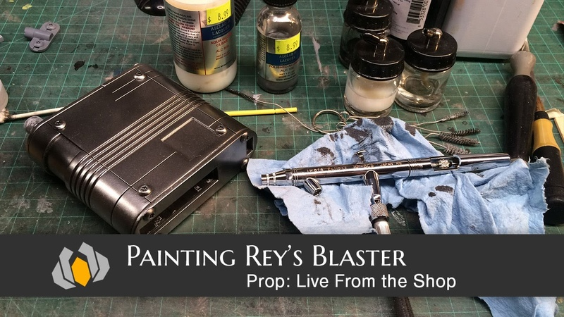 Prop Live From The Shop - Painting Reys Blaster