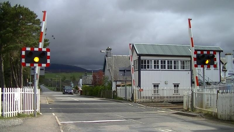 Spoorwegovergang Kingussie (UK) Railroad crossing Level crossing