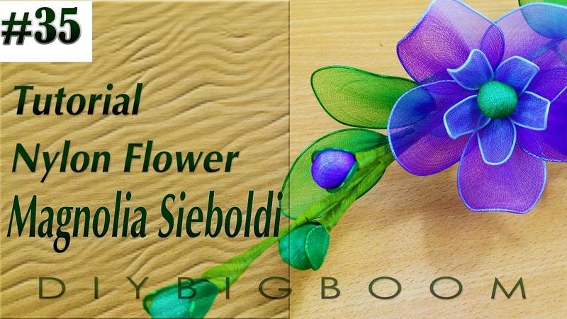 Nylon stocking flowers tutorial 35, How to make nylon stocking flower step by step