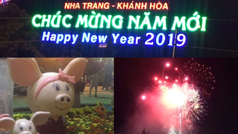 HAPPY LUNAR NEW YEAR 2019 в Нячанге, Вьетнам (Nha Trang, Vietnam), 05.02.2019