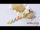 Beebeecraft tutorials on How to Make a Colorful 2 Hole Seed Bead Flower Bracelet