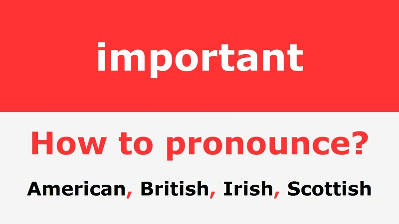 How to pronounce important Pronunciation of important