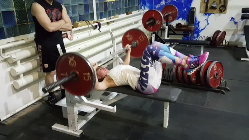 Военный жим 50 кг на 21 повторение