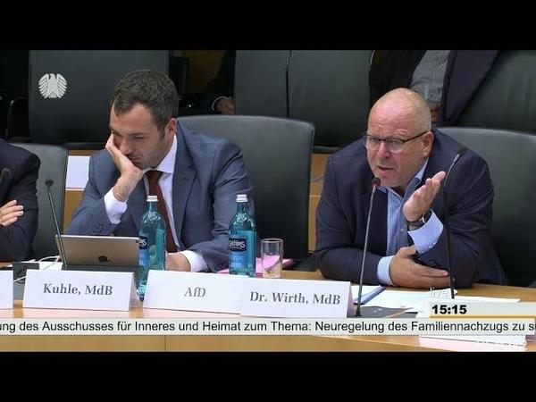 AfD - Dr. Christian Wirth Ich sehe hier ein riesiges Problem auf uns zukommen