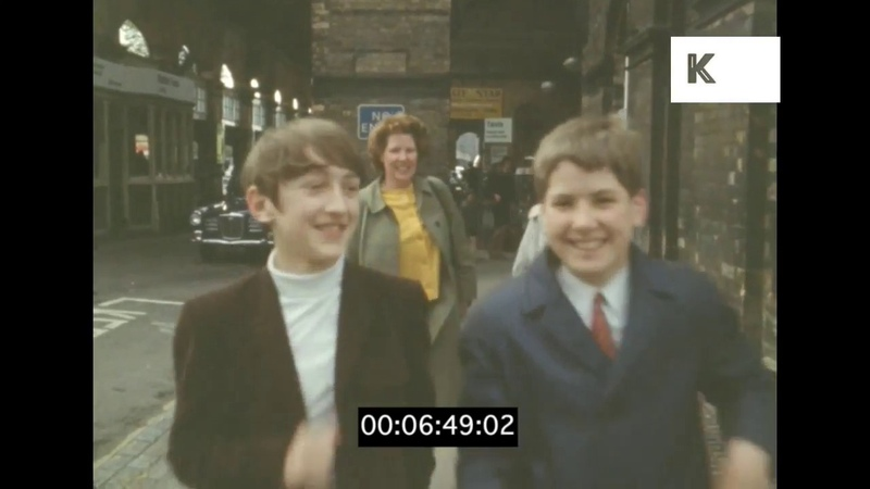 Railway Station Platform, 1960s UK, HD