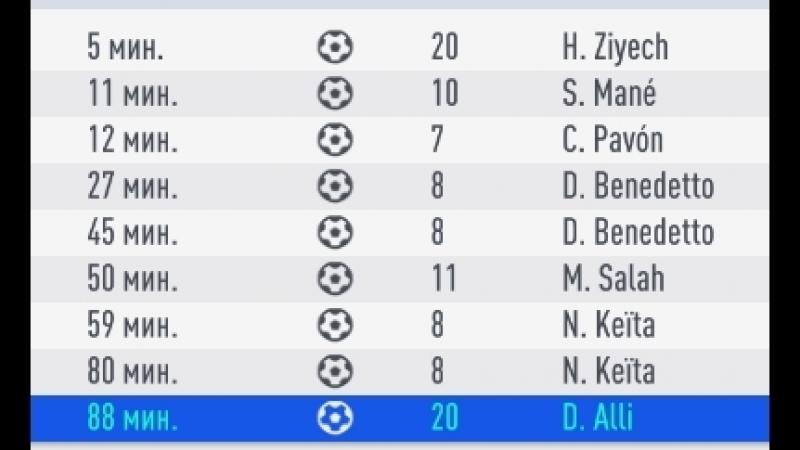 Эпичный камбек с 4-1 ( два гола не записали EA (псы))