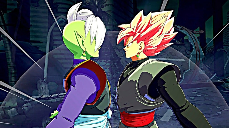 DRAGON BALL FighterZ DLC 2 Fusion Zamasu All Abilities, Intro Quotes Supers Ultimate Attacks!